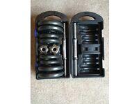 20 kg Adjustable Dumbbell set with case