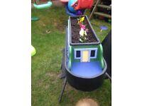 Garden planter barge