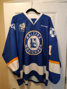 Halifax Mooseheads - Hurley Cup game worn Gravel Jersey