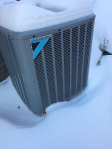 1 Year-Old High-Efficiency Daikin Central Air Conditioner