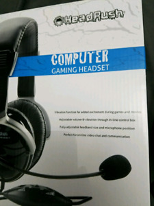 HeadRush PC Gaming Headset w/Rumble Feature