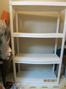 Plastic white shelves. Used in a very good condition.