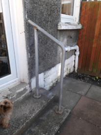 Hand rail for outdoor steps
