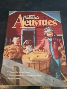 1955 Vintage Childrens Activities Magazine