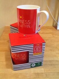 ❤️💛Happy Jackson Happiness lies within mugs New boxed 2 for £6