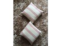 Laura Ashley striped cushions.