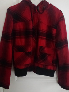 Red Plaid Winter Jacket