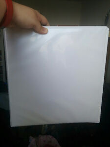White Binder with Clear Cover