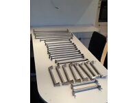 Stainless steel bar handles, assorted sizes