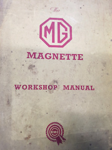 Owners manual for 1960 MGA