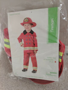 Halloween fireman toddler costume