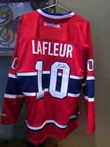 Guy Lafleur autographed Red Montreal Canadiens Jersey.