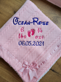 Personalised Embroidered Baby Blanket
