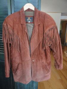 """Manteau à franges, grandeur """" Large """", pour femme, à vendre."""