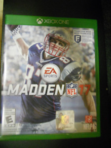 Madden NFL 17 Xbox one game