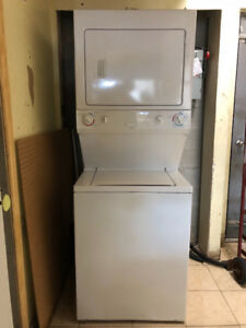 "yr old 27""Frigidaire stackable laundry centre for sale+warranty"