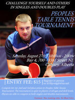 August 27th Table Tennis Tournament
