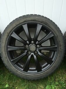 Lexus wheels set with winter tires and TPMS