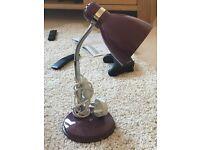 Purple desk side lamp