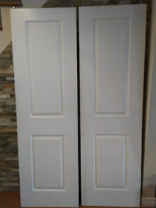 "Sliding 2 panel door design  including hardware 24"" x 78"""