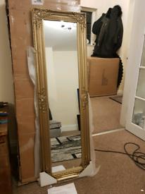 Mirror NEW Julian Bowen French Mirror Freestanding Gold Mirror Leaner