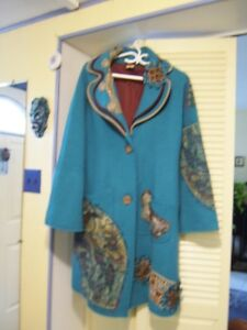 Manteau bleu turquoise save the Queen