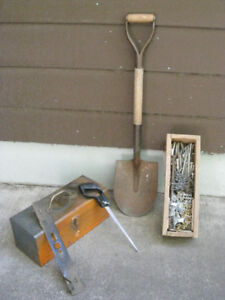 Various garden and lawn maintenance tools