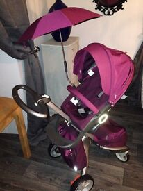 Stokke Xplory V3 Purple Complete Package (including car seat and isofix)