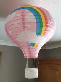 "16"" Kids Rainbow Hot Air Baloon Paper Lantern Paper Lampshade"