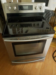 """Samsung 30"""" stainless steel electric ceramic top stove oven 3YRS"""