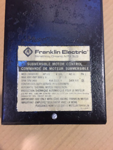 Franklin Submersible Pump Motor Control 1/3HP, 120VAC