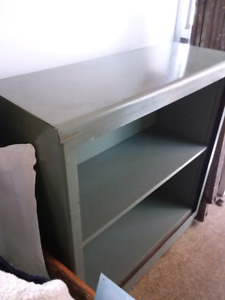 Retro steel bookcase..