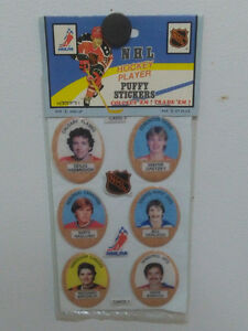NHL Puffy Hockey Stickers for sale.