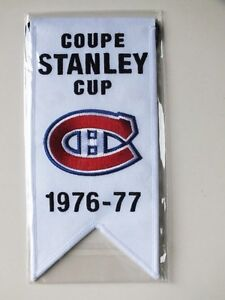 CENTENNIAL STANLEY CUP 1976-77 BANNER MONTREAL CANADIENS HABS