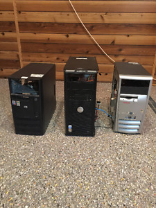 Computer Cases, fans, memory for parts