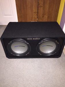 Two 12''Jackhammer MTX Subwoofers, ported with amp and capacitor