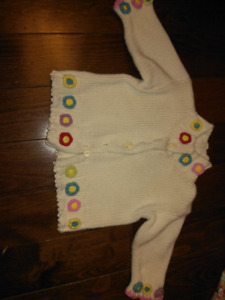 0-6 mth girls sweater