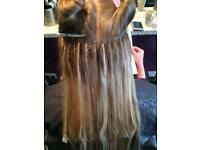 luxury hair extensions fitted by fully qualified hairdresser