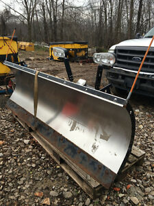 Snow Dogg Plow HD75 off F250 Stainless Steel