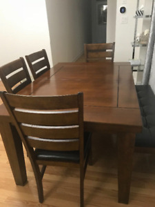 6-pieces solid wood Dining set