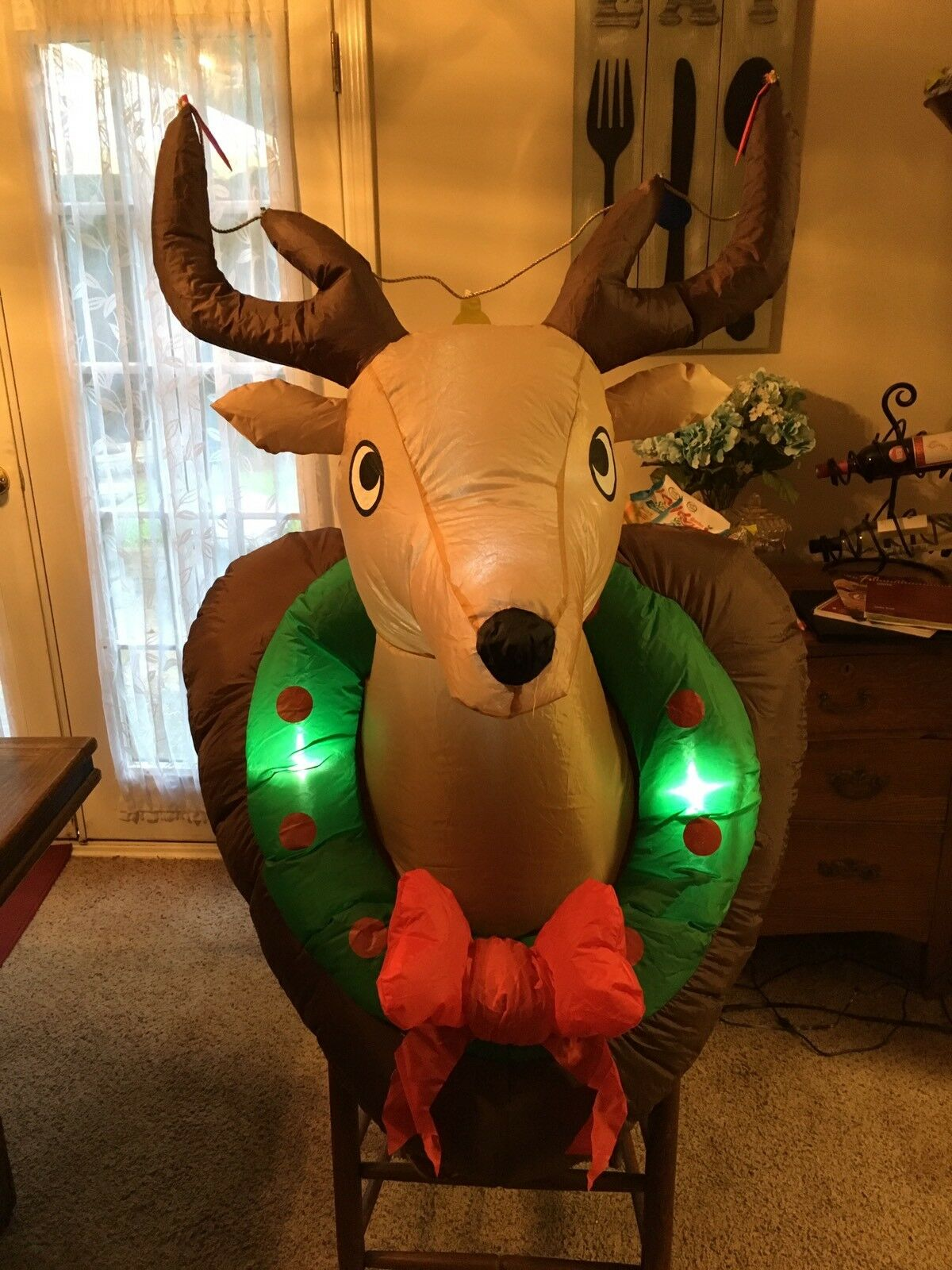 Holiday Living Airblown Inflatable Deer Head Christmas Indoor/outdoor