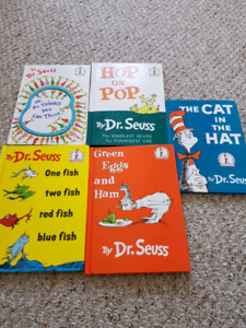 Dr.Seuss 5 hardcover editions book set books cat in the hat