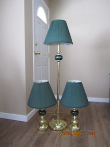 Table lamps with floor lamp