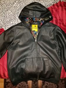 Analog leather jacket