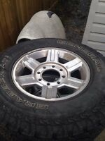 17in ram 3500 2500 rims and tires