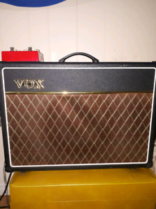 Vox ac15c1 with saturator distortion and chorus pedal