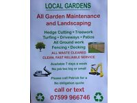 Local garden landscapes & fencing call now for a free no obligation quote