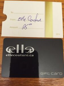 Elle Couture gift card London Ontario image 1