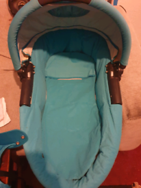 Blue carrycot