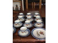 Vintage Chikaramachi Japanese Egg Shell Porcelain Tea/Coffee Set